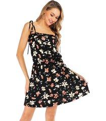 vestidos sin mangas con vuelo para mujer vestido floral sin vestido mujer