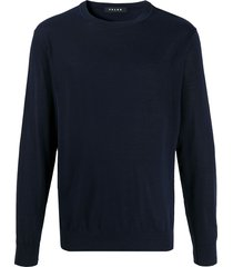 falke crew neck slim fit pullover - blue