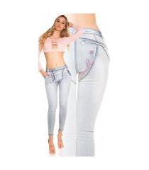 sexy skinny jeans met knopen fuchsiaroze