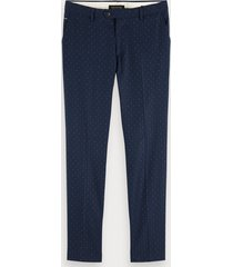 scotch & soda mott – broek met patroon | super slim fit
