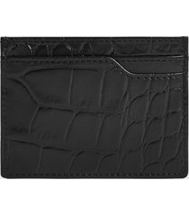 reiss charlie - embossed croc card holder in black, mens