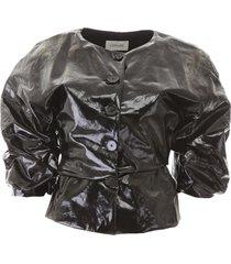lemaire vinyl short jacket