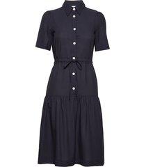 hilde dress knälång klänning blå wood wood
