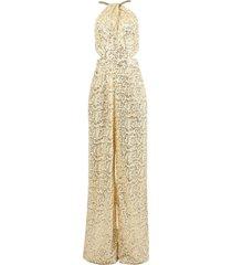 gold sequined jumpsuit
