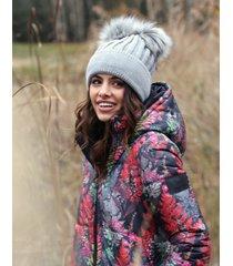 czapka zimowa z dwoma pomponami loren