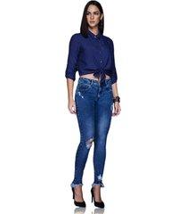 calã§a altoplano jegging jeans azul - jeans - feminino - dafiti