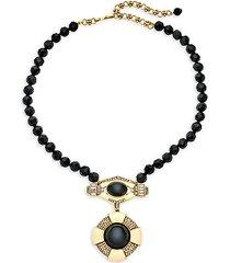 fancy totem collar pendant necklace