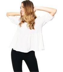 blusa blanca miss bling babydoll