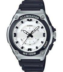reloj analógico hombre casio mwc-100h-7a - negro con blanco  envio gratis*