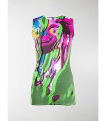 maison margiela printed sleeveless bodysuit