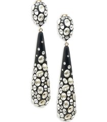 alexis bittar women's dusted 10k goldplated, lucite & crystal drop earrings