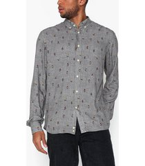 morris jasper button down shirt skjortor grey