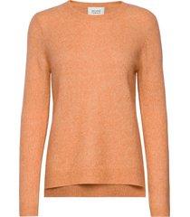 brook knit new o-neck stickad tröja orange second female