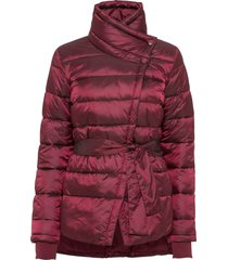 giacca trapuntata con collo asimmetrico (viola) - bodyflirt