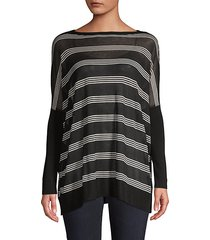 striped oversized long-sleeve top