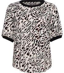 frhiround 1 t-shirt t-shirts & tops short-sleeved svart fransa