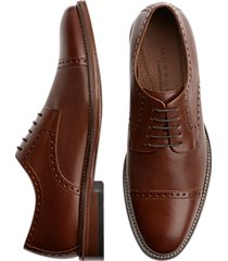 j. murphy by johnston & murphy hughes tan cap-toe lace ups