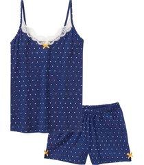pigiama estivo con spalline sottili (blu) - bpc bonprix collection