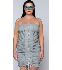 akira plus fly and floating over bs mini dress with lace up