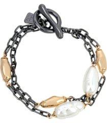robert lee morris soho pearl two row bracelet
