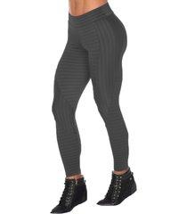 calça fitness dily modas legging recorte new zig 516 cinza