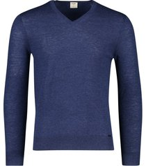 olymp level 5 trui v-hals donkerblauw wol