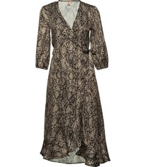snakey alva dress dresses wrap dresses brun becksöndergaard
