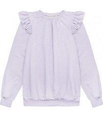 bluza w fioletowe paski