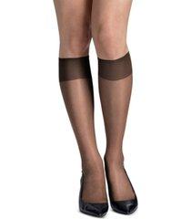 hanes women's 6-pk. slik reflections reinforced-toe knee high socks
