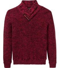maglione con collo a scialle (rosso) - rainbow