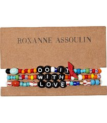 roxanne assoulin do it with love camp bracelets - black