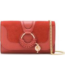 see by chloé bolsa tiracolo hana com detalhe de argola - vermelho