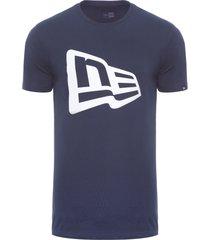 camiseta masculina básico essentials flag - azul