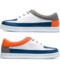 camper twins, sneaker uomo, bianco/blu/arancione, misura 46 (eu), k100472-004