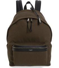 men's saint laurent city canvas backpack -
