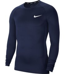 sueter nike pro compression - azul oscuro