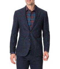 men's rodd & gunn the forks regular fit check wool & cotton sport coat