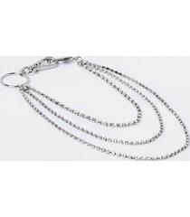 river island womens silver colour belt chain