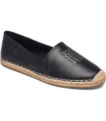 feminine leather espadrille sandaletter expadrilles låga svart tommy hilfiger