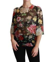 3/4 blouse silk top