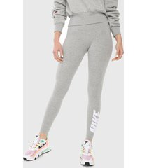 leggings gris-negro-blanco nike nsw lggng club hw