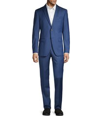 john varvatos star u.s.a. men's slim-fit striped wool-blend suit - blue - size 42 l