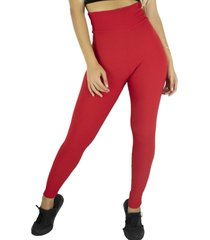 calça legging mvb modas  cintura alta bolha vermelho