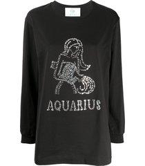 alberta ferretti aquarius crystal-embellished sweatshirt - black