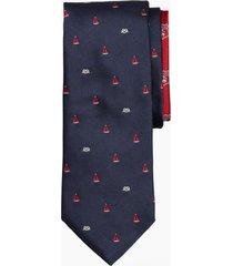 corbata boat and nautical knot azul brooks brothers