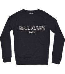 balmain classic metallic logo sweatshirt