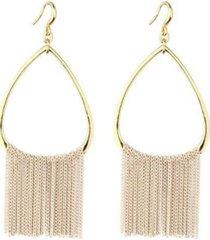 nicole miller open hoop chain earring