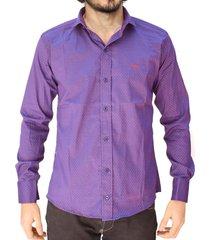 camisa violeta vinson ojana
