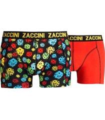 zaccini boxershort 2-pak coloured dice