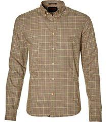 scotch & soda overhemd - slim fit - bruin